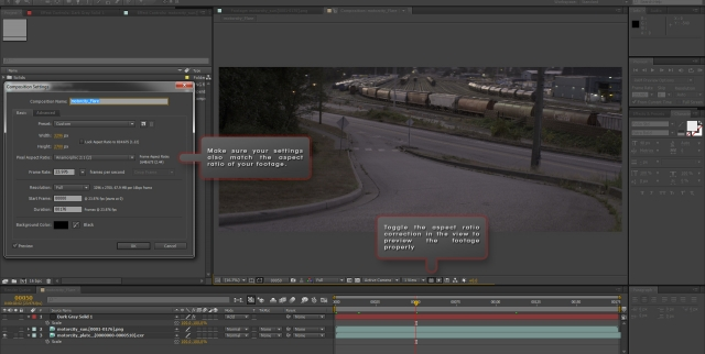After Effects Composition Settings